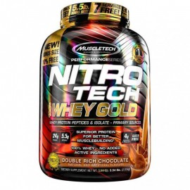MuscleTech Nutrition Nitrotech 100% Whey Gold (Whey Protein Isolate and Peptides)