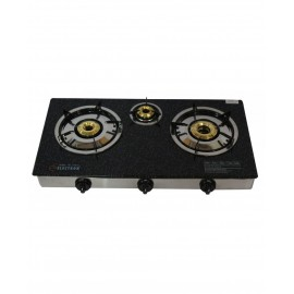Electron Glass Top Gas Stove | Automatic 3 Burner
