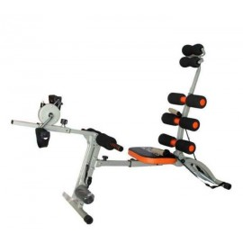 Six Pack Care Exercise Machine With Paddle | Black