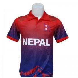 Polyester Nepal Cricket Team Jersey   Unisex