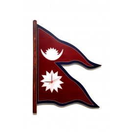 Custom Wall Clock Attached with Nepali Flag-Home Decor