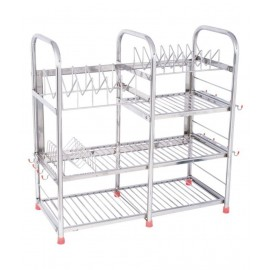 Stainless Steel 4 Layer Wall Mount Kitchen Dish Rack