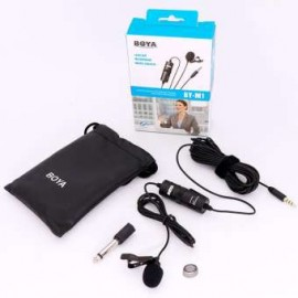 BOYA BY-M1 Lavalier Microphone For Smartphones, DSLR Cameras, Camcorders, Audio Recorder ,PC   Boya Pin Mike