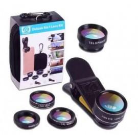 5 In 1 HD Camera Lens Kit   Fish Eye   Wide Angle   Macro   Telephoto   CPL Lens