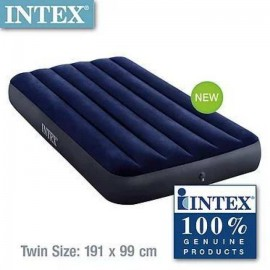 Intex 64757 Twin Sized Classic Downy Airbed | Free Intex Air Pump