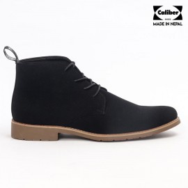 Caliber Shoes | Black Lace Up Lifestyle Boots For Men