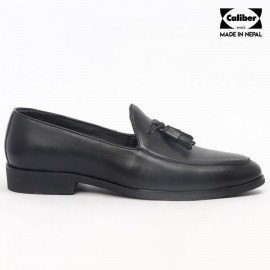 Caliber Shoes | Black Slip On Formal Shoes For Men