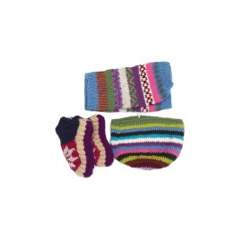Handmade Combo knee warmer and shocks and cap