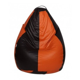 Nudge 3XL Black/Orange Classic Bean Bag | A must have for your living / bed room