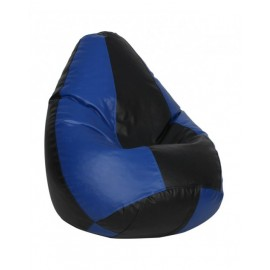 Nudge 3XL Black/ Blue Classic Bean Bag | A must have for your living / bed room