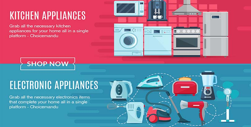 Get all necessary electronic home appliances in Choicemandu Online Shopping Site