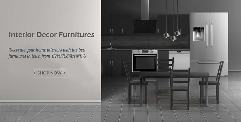Get best quality furnitures for home interiors in Choicemandu Online Shopping Site