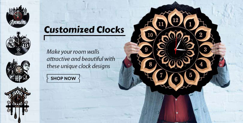Get best quality customized wooden clocks from Choicemandu Online Shopping Site