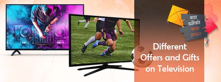 Get different types of televisions in Choicemandu Online Shopping Site
