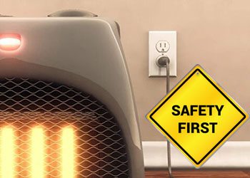 How to use electric heater safe in winter?